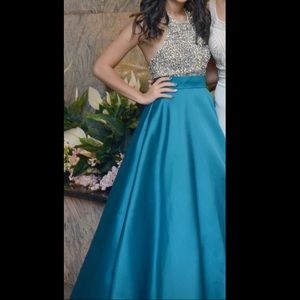 teal sweet 16/ engagement/ prom dress